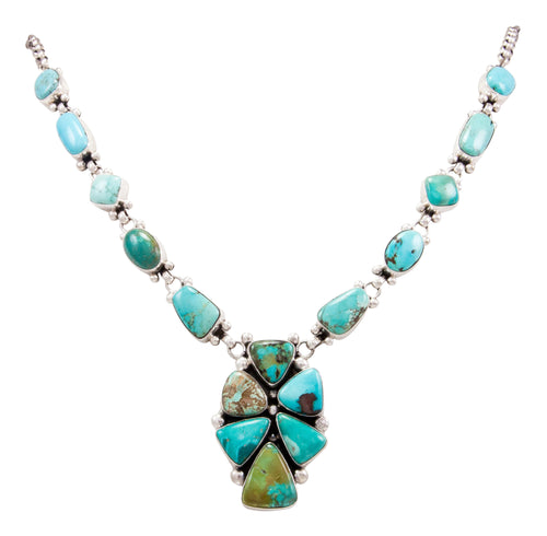 Navajo Native American Blue Moon Turquoise Necklace by Bea Tom SKU232569