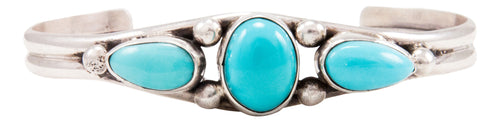 Navajo Native American Turquoise Mountain Turquoise Bracelet by Endito SKU232582
