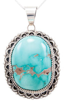 Load image into Gallery viewer, Navajo Native American Royston Turquoise Pendant Necklace by Livingston SKU232590