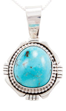 Load image into Gallery viewer, Navajo Native American Royston Turquoise Pendant Necklace by Yazzie SKU232594