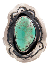 Load image into Gallery viewer, Navajo Native American Carico Lake Turquoise Ring Size 6 3/4 by Livingston SKU232611