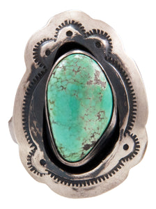 Navajo Native American Carico Lake Turquoise Ring Size 6 3/4 by Livingston SKU232611