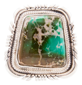 Navajo Native American Cerrillos Turquoise Ring Size 5 3/4 by Spencer SKU232628