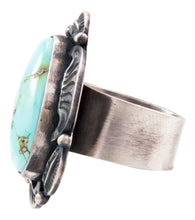 Load image into Gallery viewer, Navajo Native American Kingman Turquoise Ring Size 7 3/4 by Clark SKU232633