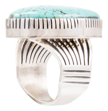 Load image into Gallery viewer, Navajo Native American Kingman Turquoise Ring Size 9 by Paul Livingston SKU232637