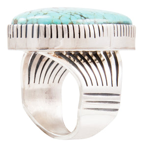 Navajo Native American Kingman Turquoise Ring Size 9 by Paul Livingston SKU232637