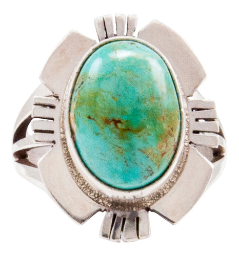 Navajo Native American Royston Turquoise Ring Size 6 3/4 by Secatero SKU232642