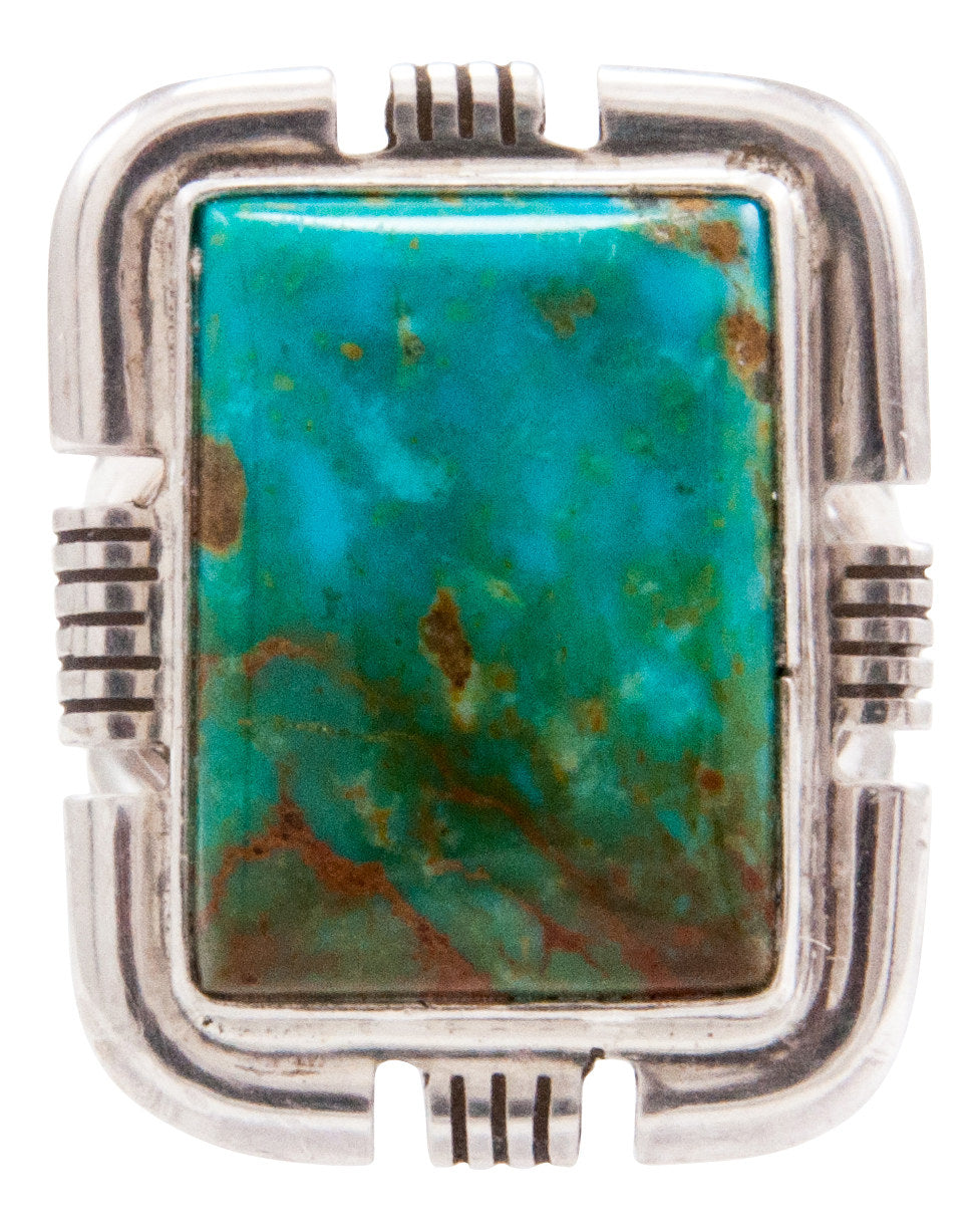 Navajo Native American Royston Turquoise Ring Size 6 by Secatero SKU232643