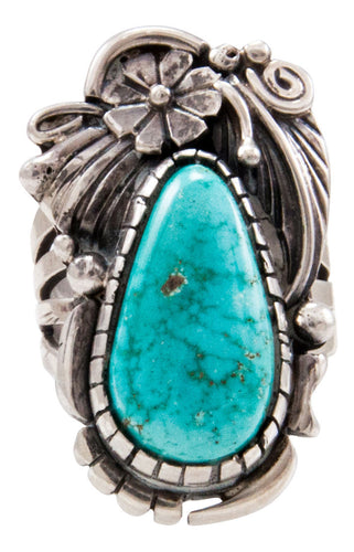 Navajo Native American Kingman Turquoise Ring Size 6 1/2 by Jay Delgarito SKU232646