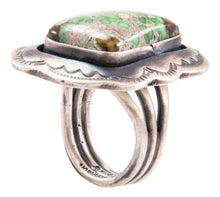 Load image into Gallery viewer, Navajo Native American Carico Lake Turquoise Ring Size 8 1/4 by Johnson SKU232648