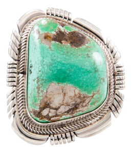 Navajo Native American Carico Lake Turquoise Ring Size 7 3/4 by Spencer SKU232649