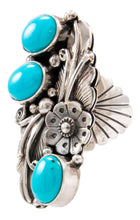Load image into Gallery viewer, Navajo Native American Sleeping Beauty Turquoise Ring Size 6 3/4 by Jimmy Lee SKU232650