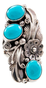 Navajo Native American Sleeping Beauty Turquoise Ring Size 6 3/4 by Jimmy Lee SKU232650