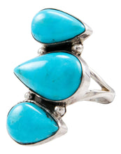 Load image into Gallery viewer, Navajo Native American Kingman Turquoise Ring Size 6 by Johnson SKU232655
