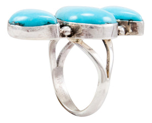 Navajo Native American Kingman Turquoise Ring Size 6 by Johnson SKU232655