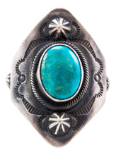 Load image into Gallery viewer, Navajo Native American Turquoise Mountain Turquoise Ring Size 10 3/4 SKU232657