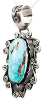 Load image into Gallery viewer, Navajo Native American Pilot Mountain Turquoise Pendant Necklace by Juan SKU232677