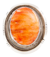 Load image into Gallery viewer, Navajo Native American Spiny Oyster Shell Ring Sizes 6 1/2 by Willie SKU232710