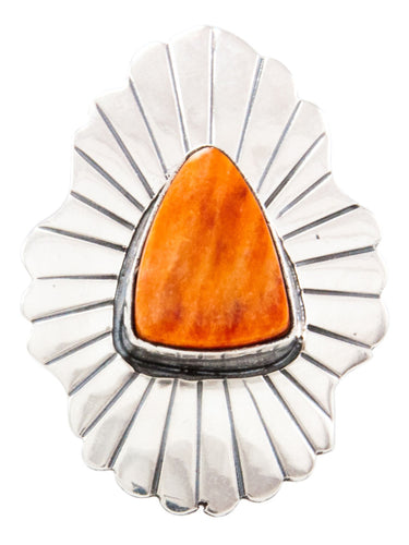 Navajo Native American Spiny Oyster Shell Ring Size 8 by Livingston SKU232711