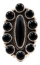 Load image into Gallery viewer, Navajo Native American Onyx Ring Size 6 1/4 by Etta Endito SKU232712