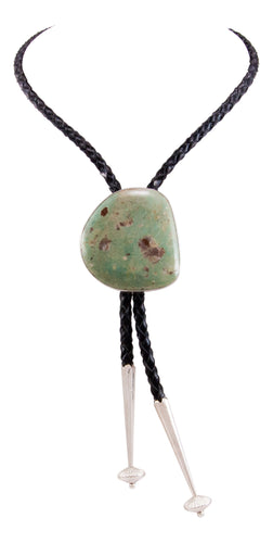 Navajo Native American Evans Mine Turquoise Bolo Tie by Livingston SKU232732