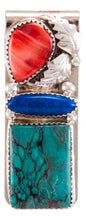 Load image into Gallery viewer, Navajo Native American Turquoise Money Clip by Lorraine Bahe SKU232736