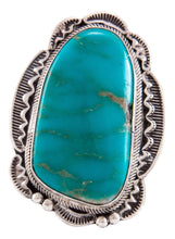 Load image into Gallery viewer, Navajo Native American Kingman Turquoise Ring Size 11 by Rita Tom SKU232754