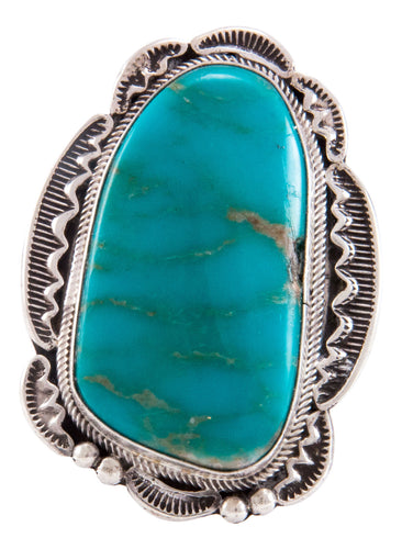 Navajo Native American Kingman Turquoise Ring Size 11 by Rita Tom SKU232754