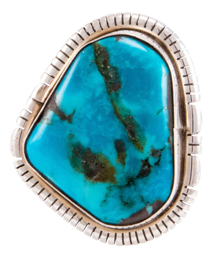Navajo Native American Apache Blue Turquoise Ring Size 6 1/2 by Skeets SKU232755