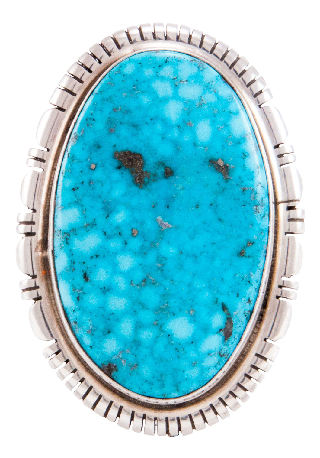 Navajo Native American Kingman Turquoise Ring Size 6 by Scott Skeets SKU232767