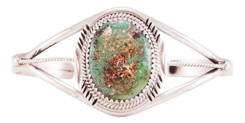 Navajo Native American Cripple Creek Turquoise Bracelet by Yazzie SKU232784