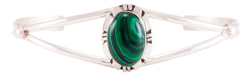 Navajo Native American Royston Malachite Bracelet by Calvin Spencer SKU232787