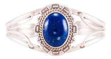 Load image into Gallery viewer, Navajo Native American Lapis Bracelet by Augustine Largo SKU232791