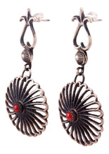 Load image into Gallery viewer, Navajo Native American Red Coral Earrings by Kevin Billah SKU232814