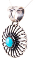 Load image into Gallery viewer, Navajo Native American Kingman Turquoise Pendant by Kevin Billah SKU232819