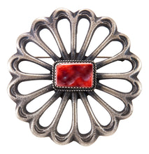Load image into Gallery viewer, Navajo Native American Spiny Oyster Shell Pin and Pendant by Cayatineto SKU232845