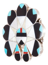 Load image into Gallery viewer, Zuni Native American Turquoise Inlay Sunface Pin Pendant by Dishta SKU232848