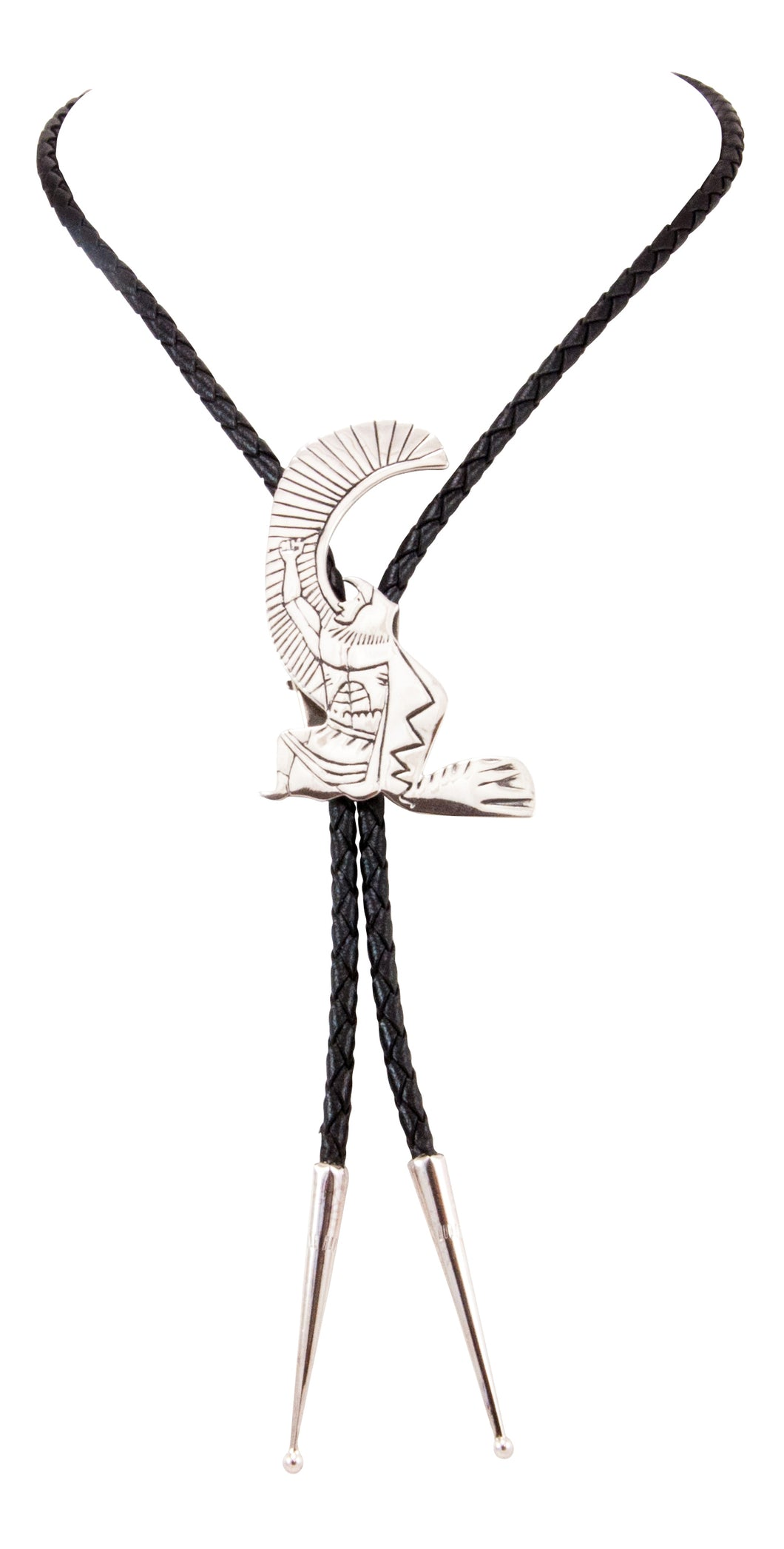 Navajo Native American Sterling Silver Eagle Dancer Bolo Tie by Begay SKU232851