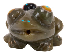 Load image into Gallery viewer, Zuni Native American Serpentine Frog Fetish Carving by Lunasee SKU232860