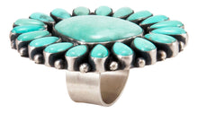 Load image into Gallery viewer, Navajo Native American Sonora Turquoise Cluster Ring Size 8 3/4 SKU232862