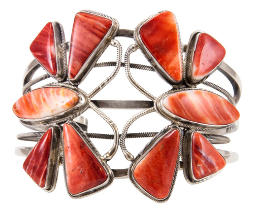 Navajo Native American Spiny Oyster Shell Butterfly Bracelet by James SKU232866