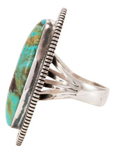 Load image into Gallery viewer, Navajo Native American Lone Mountain Turquoise Ring Size 9 by McReeves SKU232887
