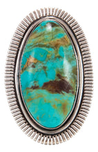 Load image into Gallery viewer, Navajo Native American Lone Mountain Turquoise Ring Size 9 by McReeves
