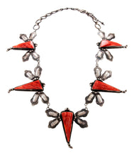 Load image into Gallery viewer, Navajo Native American Spiny Oyster Shell Dragongly Necklace by Lee SKU232930