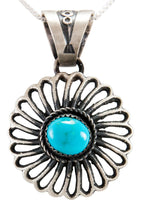 Load image into Gallery viewer, Navajo Native American Kingman Turquoise Pendant Necklace by Billah SKU232935