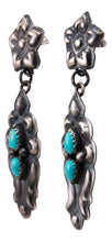 Load image into Gallery viewer, Navajo Native American Turquoise Earring by Tim Yazzie SKU232939