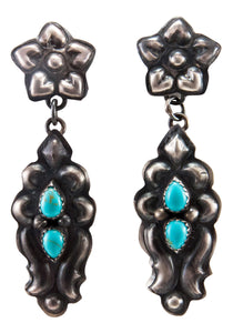 Navajo Native American Turquoise Earring by Tim Yazzie SKU232939