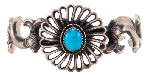 Navajo Native American Kingman Turquoise Bracelet by Kevin Billah SKU232946