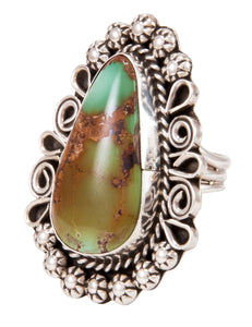 Navajo Native American Royston Turquoise Ring Size 7 1/4 by Lee SKU232961