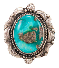 Load image into Gallery viewer, Navajo Native American Candelaria Turquoise Ring Size 10 by B Lee SKU232962